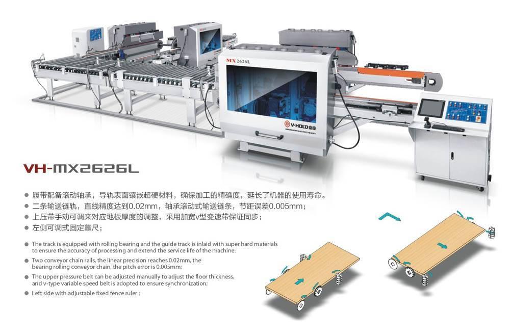 双端铣+双端铣木门自动化生产线